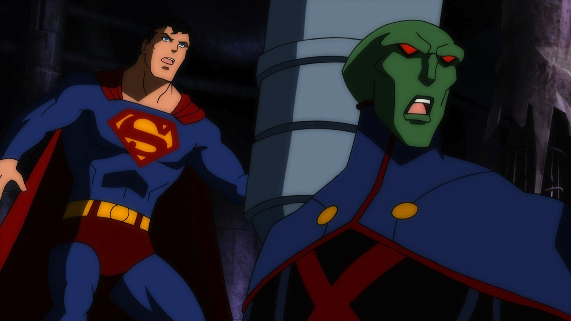 See Superman battle the android strongman of the Royal Flush Gang in this scene.